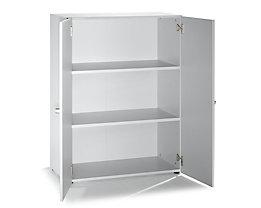 VERA Büroschrank - 2 Fachböden, 800 mm breit - lichtgrau