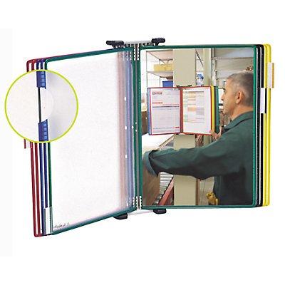 Tarifold Klarsichttafel-Wandhalter - Komplett-Set mit 10 Klarsichttafeln