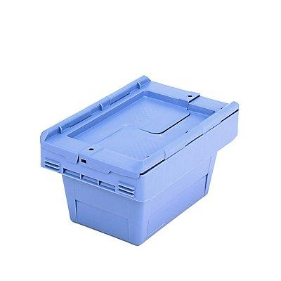 Mehrweg-Stapelbehälter mit Klappdeckel - Inhalt 5 l