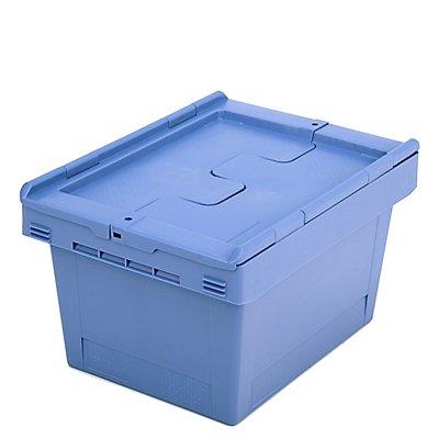 BITO Mehrweg-Stapelbehälter mit Klappdeckel - Inhalt 18 Liter