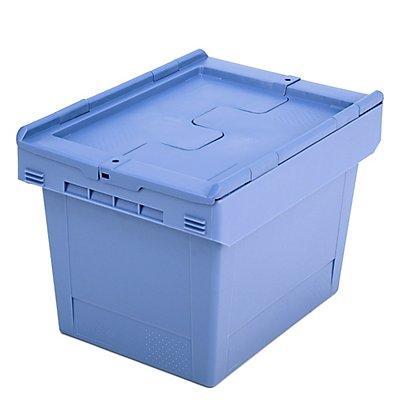 Mehrweg-Stapelbehälter mit Klappdeckel - Inhalt 22 Liter