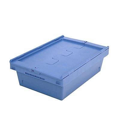 Mehrweg-Stapelbehälter mit Klappdeckel - Inhalt 29 Liter - ab 1 Stück