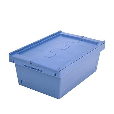 Mehrweg-Stapelbehälter mit Klappdeckel - Inhalt 38 Liter
