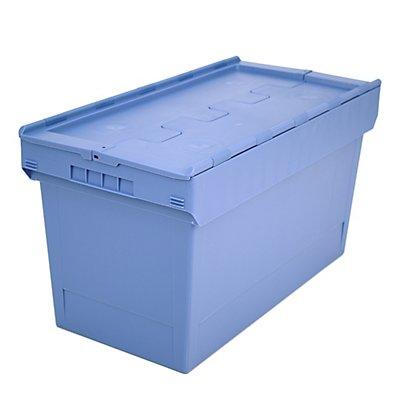 BITO Mehrweg-Stapelbehälter mit Klappdeckel - Inhalt 100 Liter