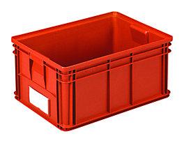 Stapeltransportkasten - LxBxH 650 x 470 x 300 mm - Farbe rot, VE 3 Stk