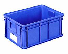 Stapeltransportkasten - LxBxH 650 x 470 x 300 mm - Farbe blau, VE 3 Stk