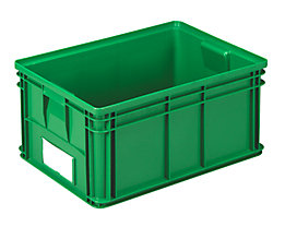 Stapeltransportkasten - LxBxH 650 x 470 x 300 mm - Farbe grün, VE 3 Stk