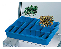 ZARGES Godet pour petites pièces - avec 21 séparations emboîtables - l x p x h 430 x 330 x 60 mm