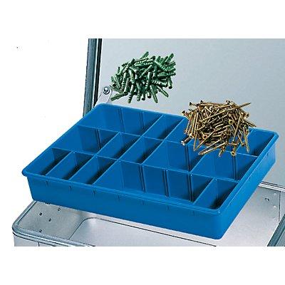ZARGES Kleinteilekasten - mit 21 steckbaren Teilern - BxTxH 430 x 330 x 60 mm