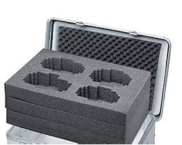 ZARGES Würfelschaum-Set - passend für Box mit 27, 42, 60 oder 73 l Inhalt - Höhe 220 mm