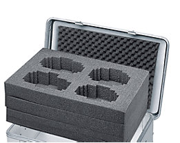 ZARGES Würfelschaum-Set - passend für Box mit 81, 157 oder 239 l Inhalt - Höhe 220 mm