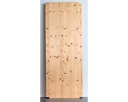 Tablette pour rayonnage emboîtable en bois - largeur 1300 mm, peinture d'apprêt et surface dépolie - profondeur 500 mm