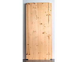 Tablette pour rayonnage emboîtable en bois - largeur 1300 mm, rabotée et polie - profondeur 600 mm