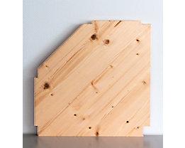Wedeka Zusatz-Eckfachboden mit Bodenträgern - gehobelt und geschliffen - für Bodentiefe 300 mm