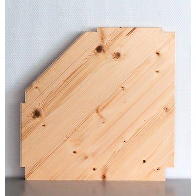 Wedeka Zusatz-Eckfachboden mit Bodenträgern - gehobelt und geschliffen