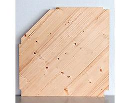 Wedeka Zusatz-Eckfachboden mit Bodenträgern - gehobelt und geschliffen - für Bodentiefe 400 mm