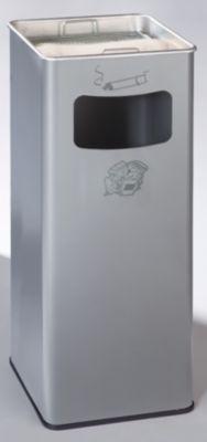 Kombiascher - eckig, Stahlblech, HxBxT 705 x 330 x 330 mm