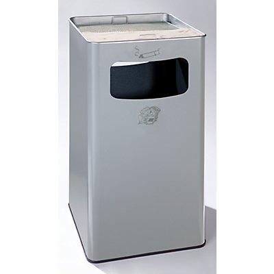 Combiné cendrier-poubelle avec cendrier à remplir de sable - h x l x p 755 x 430 x 430 mm