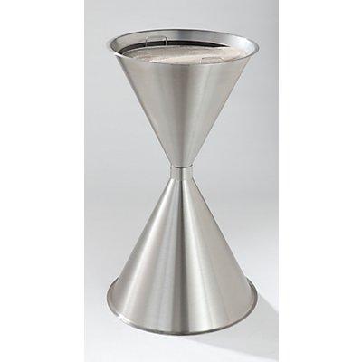 Cendrier sur pied en forme de quille, en tôle d'acier - hauteur 730 mm, Ø 400 mm