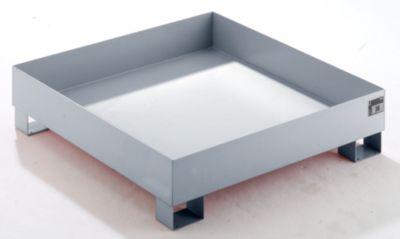 QUIPO Auffangwanne aus Stahlblech - LxBxH 1200 x 1200 x 285 mm