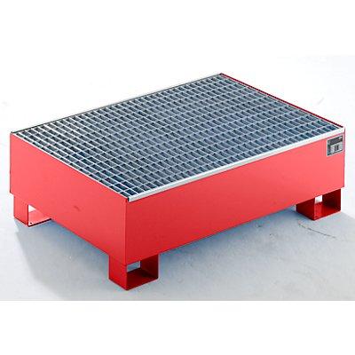 QUIPO Auffangwanne aus Stahlblech - LxBxH 1200 x 800 x 360 mm