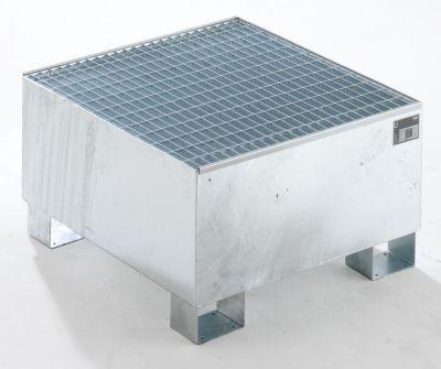 QUIPO Auffangwanne aus Stahlblech - LxBxH 800 x 800 x 465 mm