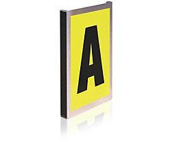 Alu-Leittafel - einfach, für 1 Schriftzeichen - Höhe x Breite 260 x 167 mm