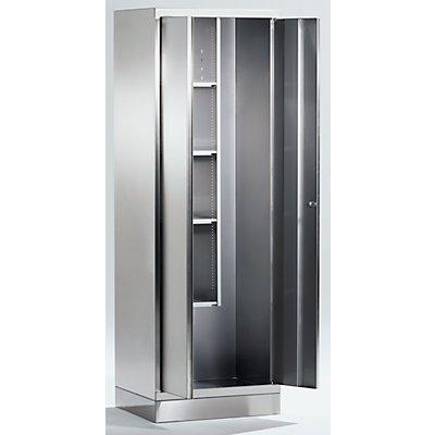 Edelstahl-Mehrzweckschrank - Putzmittelschrank - HxBxT 1800 x 600 x 500 mm