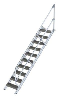 Industrie-Treppe - Stahl-Lochblechstufen, Stufenbreite 600 mm