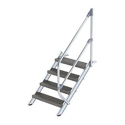 Industrie-Treppe - Stahl-Lochblechstufen, Stufenbreite 800 mm