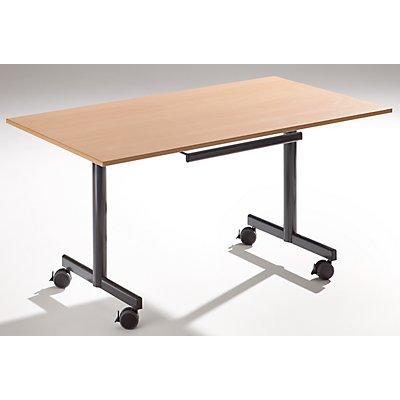 Sodematub Tisch mit abklappbarer Platte, mobil - HxBxT 720 x 1400 x 800 mm