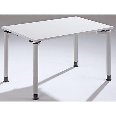 THEA Schreibtisch mit 4-Fußgestell - Höhe 680 – 820 mm