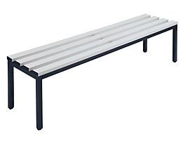 Wolf Garderobenbank ohne Lehne - PVC-Leisten, grau - Länge 1500 mm
