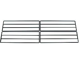Wolf Schuhablageboden für Garderobenbank - doppelseitig - Länge 2000 mm