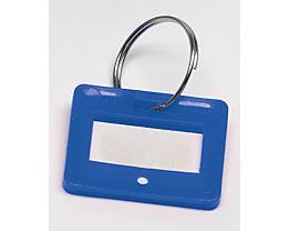 Schlüsselanhänger - VE 10 Stück - blau, ab 10 VE