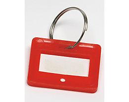 Schlüsselanhänger - VE 10 Stück - rot, ab 10 VE