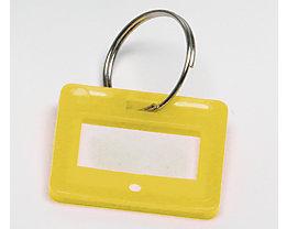 Schlüsselanhänger - VE 10 Stück - gelb, ab 10 VE