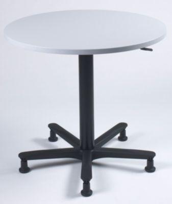 Bistrotisch, höhenverstellbar - Ø 800 mm, Gestell schwarz mit Rollen