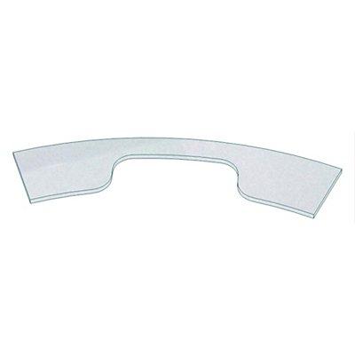 Hammerbacher Bildschirmplatte, silber - für Theke rund - Ausschnitt Bildschirm BxT 600 x 210 mm | TPBR/S