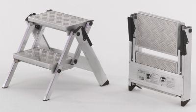 Alu-Klapptreppe - Stufen Aluminium geriffelt