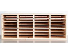 Bloc pour formulaires format A4, en bois - 28 cases - raboté et poli