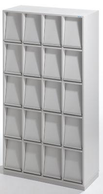 office akktiv Klappenschrank - mit 20 Klappen - HxBxT 1864 x 1000 x 420 mm