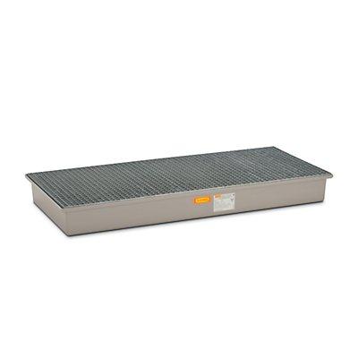 CEMO Boden-Auffangwanne - 3 x 200-l-Fässer, mit Zulassung