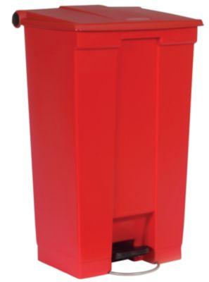 Rubbermaid Kunststoff-Treteimer - Inhalt 85 l, mit Rollwalze - weiß