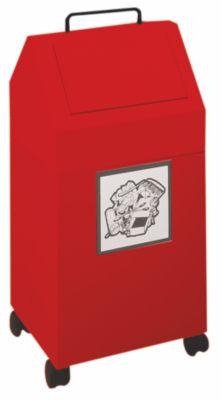 Wertstoffbehälter, 45 l Inhalt - fahrbar