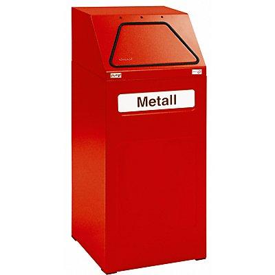 stumpf Wertstoffbehälter, 65 l Inhalt - Innenbehälter verzinkt, flammverlöschend - Stahlblech, grau RAL 7035
