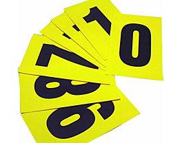 Schriftzeichenset - HxB 230 x 140 mm - Klebeziffern 0 – 9, 10 Ziffern