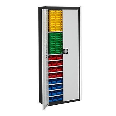 mauser Magazinschrank, zweifarbig - HxBxT 1740 x 680 x 280 mm, mit Sichtlagerkästen