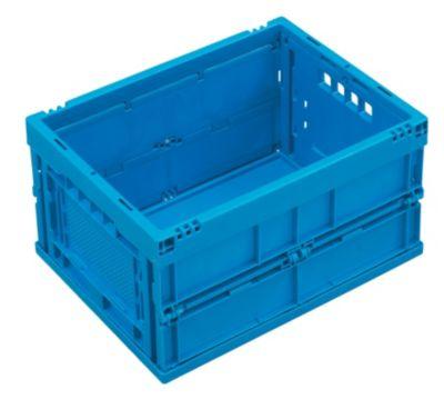 Faltbox aus Polypropylen - Inhalt 22 l, ohne Deckel - blau