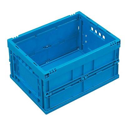 WALTHER Faltbox aus Polypropylen - Inhalt 22 l, ohne Deckel - blau